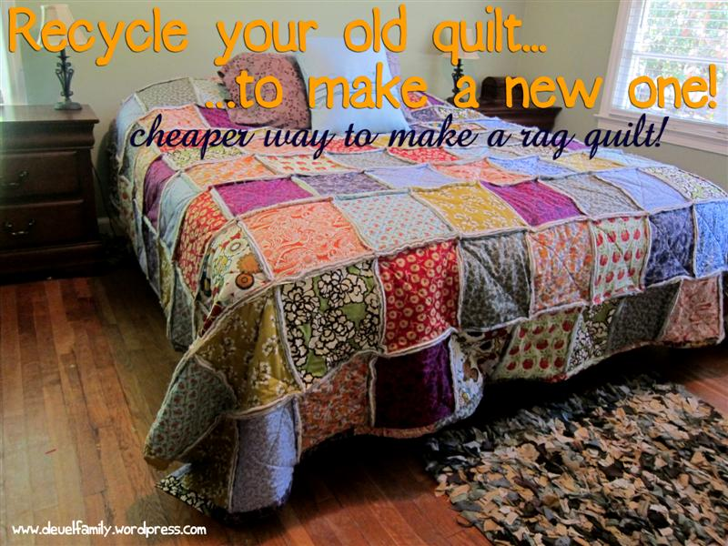 King Size Rag Quilt - Spoonful of Imagination : quilt for king size bed - Adamdwight.com